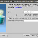 Enter Oracle Support details